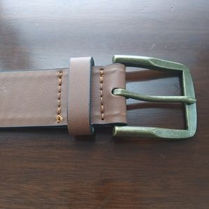 Other - Light brown / tan bonded leather belt NWT target